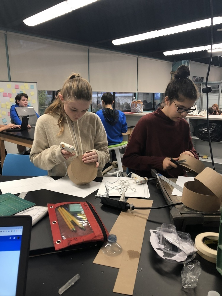Eighth graders participate in Capstone projects