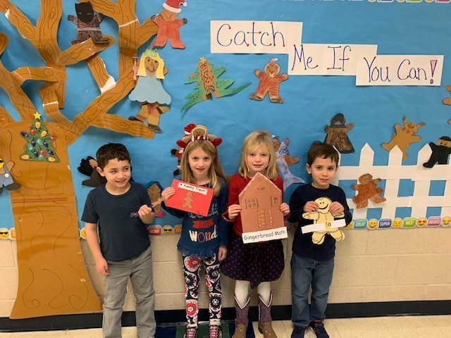 Kindergarteners Chase the Gingerbread Man