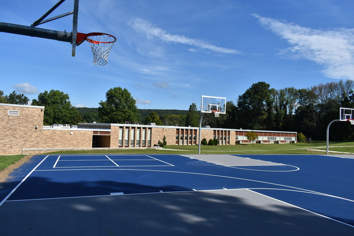 Renovated basketball courts