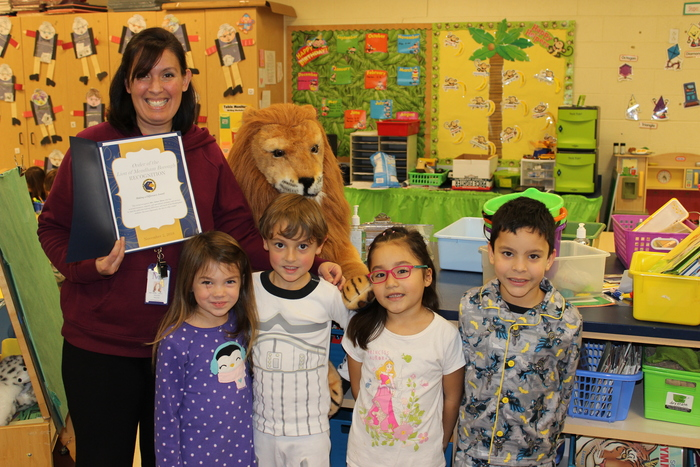 Mrs. Abreu earns the Lion's Pride Award