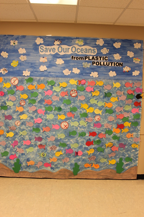 Students' pledges to help reduce plastic waste