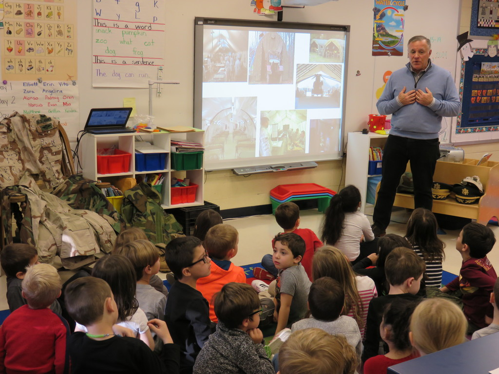 Retired Lt. Colonel Tom Pirozzi visits Hilltop