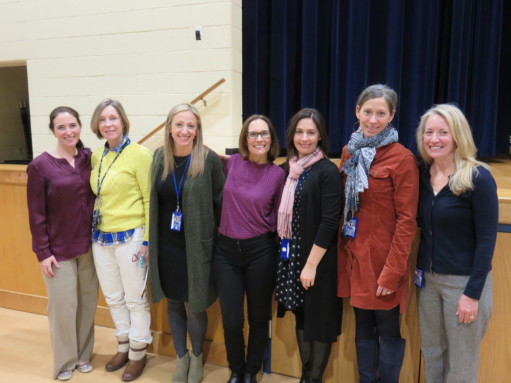 Mendham Boro School District's Student Wellness Committee with Allison Morgan.