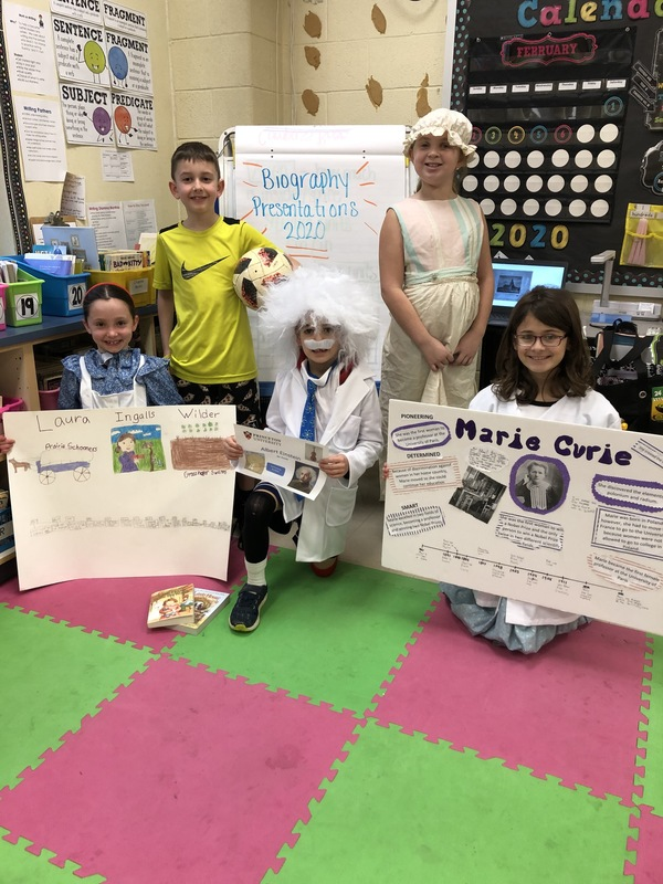 3rd Graders Biography Projects Dazzle!