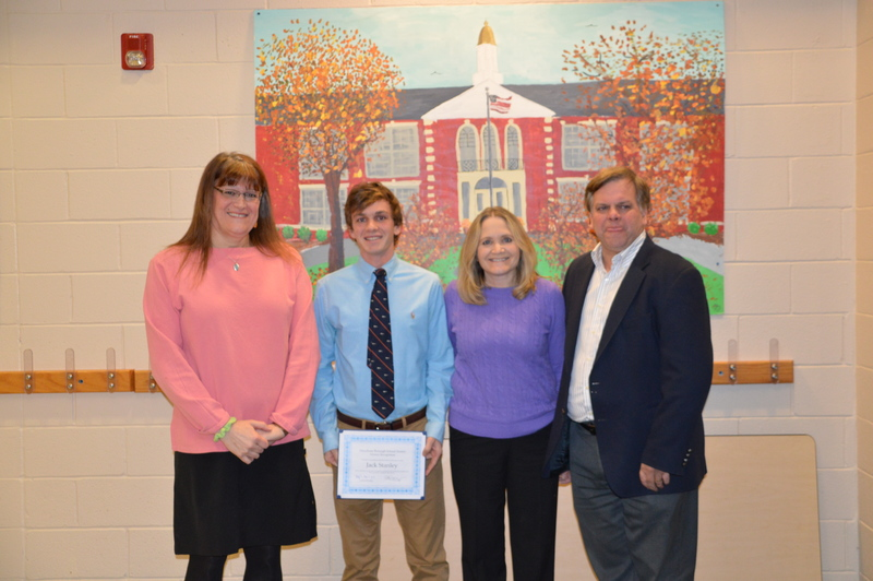 Mendham Borough Board of Education Recognizes First Alumni Recognition Recipient