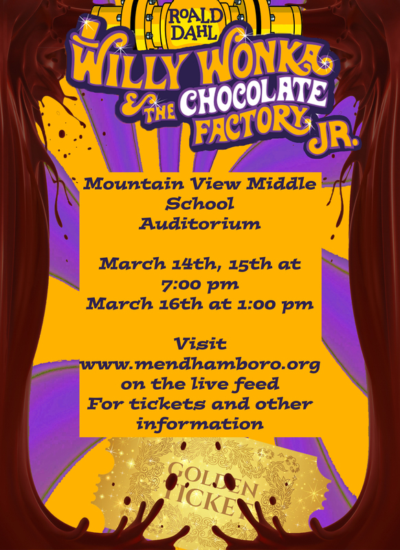 Willy Wonka & The Chocolate Factory, Jr. Performance Information