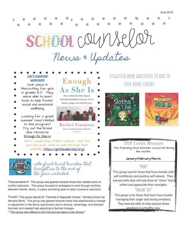 Hilltop School Counselor News & Updates