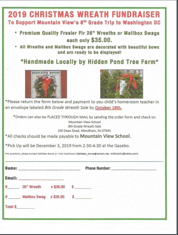 Class of 2020 Holiday Wreath sale