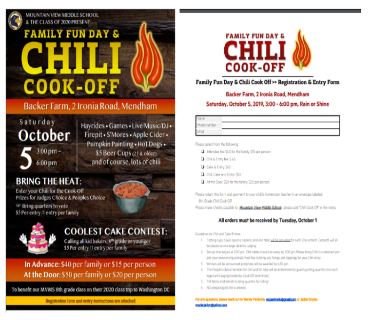 Spice it up - Mendham Chili Cook-off 10/5
