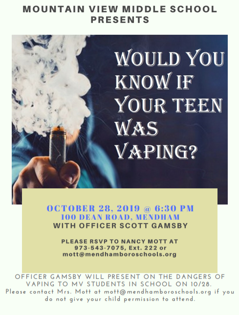 Mountain View Middle School Teen Vaping Presentation