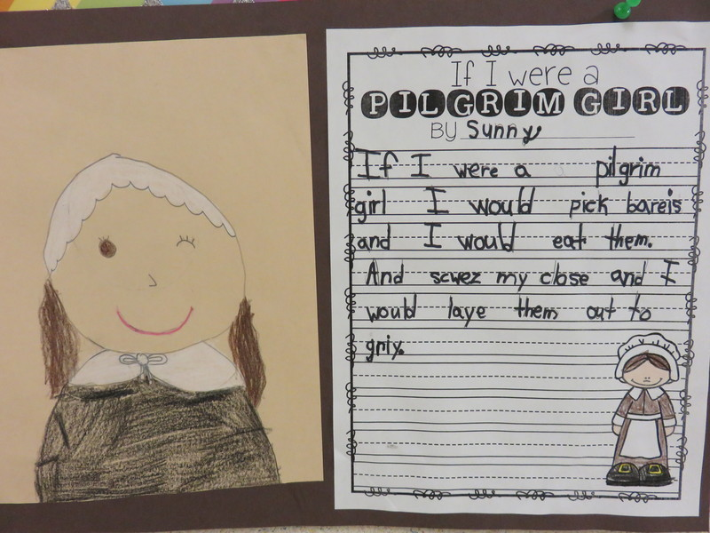 "Grade 1 Students - ""If I were a Pilgrim..."""