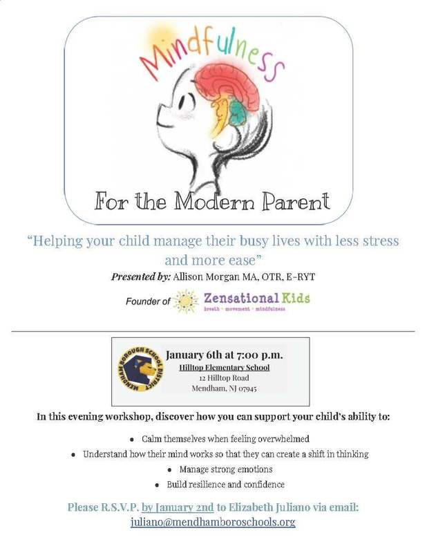 Mindfulness For the Modern Parent Workshop